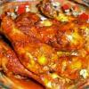 Хрустящие куриные ножки с бобами в томатном соусе