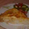 Рисовая запеканка со сладким перцем и зеленым горошком