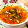 Суп из консервы кильки