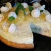 Торт с белым шоколадом и ананасами
