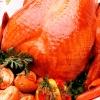 Курица в духовке с шампиньонами