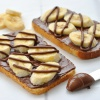 Тосты с бананом и шоколадным плавленым сыром