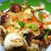 Как приготовить кальмары с грибами