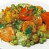 Овощное рагу в сливочно-соевом соусе