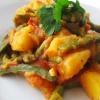 Салат из стручковой фасоли и батата
