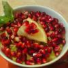 Десерт из авокадо с гранатом