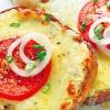 Горячие бутерброды с сыром, чесноком и помидорами