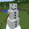 Как в Майнкрафте сделать снег и снеговика