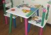 """Детская мебель Сима-лэнд Стол и 2 стула """"Пальма и звери"""""""