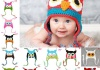 Шапка детская AliExpress OWL Crochet Children Hat with Ear