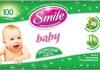 Влажные салфетки для детей Smile