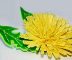 Как сделать цветочную заколку «Одуванчик»