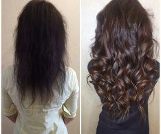 Наращивание волос: виды прядей