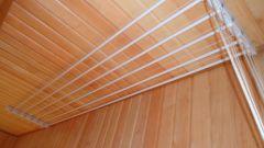 Как установить потолочную сушилку
