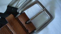 How to wear a men's belt