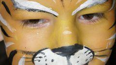 Как нарисовать на лице лису