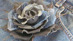 Как сделать брошку из ткани