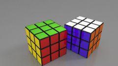 Как собрать первый слой кубика Рубика