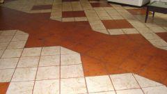 Как приклеить плитку на пол