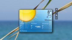 Как поставить погоду на рабочий стол