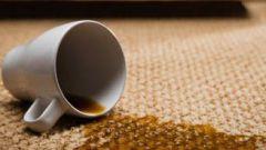 Как убрать пятна на ковре