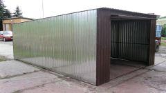Как построить железный гараж