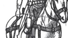 Как нарисовать рыцаря на коне