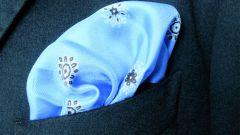 Как сложить нагрудный платок