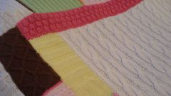 How to knit a blanket with needles