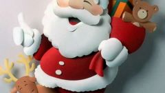 Как вырезать Деда Мороза