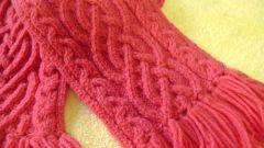 Как завязывать вязаный шарф