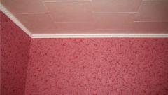 Как оклеить потолки плиткой