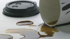 Как убрать пятно от кофе