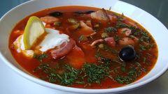 Как приготовить суп-солянку