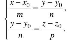 Как составить каноническое уравнение прямой
