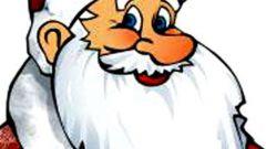 Как сделать маску Деда Мороза