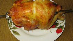 Как насаживать курицу на гриль