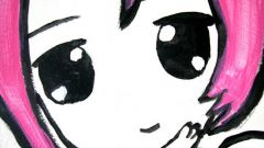 Как рисовать лицо как в манге