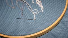 How to make the finished embroidery
