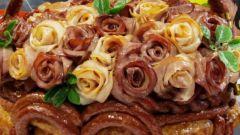 Как сделать розочки из колбасы