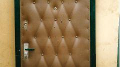 Как обить металлическую дверь