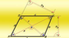 Как найти острый угол параллелограмма