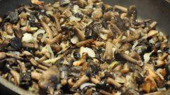 Как обжарить грибы