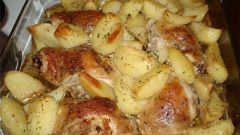 How to bake chicken legs with potatoes