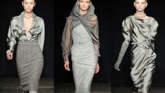 Как подобрать серое платье