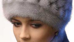 Как почистить голубую норковую шапку