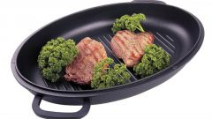 How to fry on the grill pan