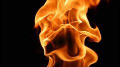 Как нарисовать огонь красками