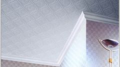 How to glue panels to the ceiling