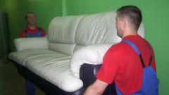 Как занести диван